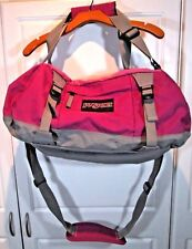 ~ Jansport ~ Travel Duffel Bag ~ PINK MAGENTA ~ Large 22 by 11.5 inches EUC NICE