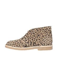 scarpe donna KTL BY CORAF 36 polacchini beige nero leopardato camoscio AG747-B