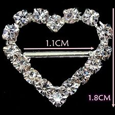 Diamante Rhinestone Buckles Ribbon Sliders Wedding Decor Bridal Embellishments