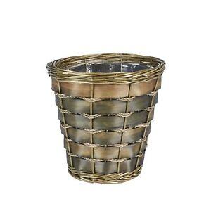 Household Essentials ML-2215 Small Decorative Wicker Waste Basket | Haven Wil...