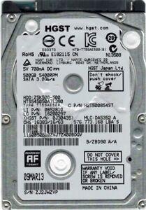 Hitachi HTS545050A7E380 P/N: 0J30435 MLC: DA5352 500GB