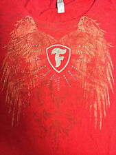 Indy 500 Firestone Ladies ANGEL WING RED Studded Scoop Neck Shirt SMALL New!