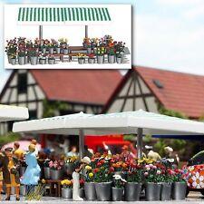 OO/HO Life scene - Market flowers stand + 200 plants - Busch 1072 P3