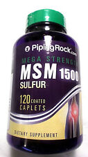Mega Strength MSM Pills 1500Mg Sulfur Calcium 120 Coated Caplets