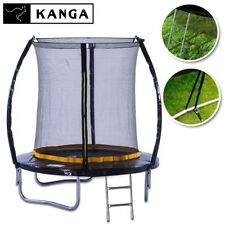 KANGA 6ft Outdoor Trampoline With Enclosure, Net, Ladder & FREE Anchor Kit