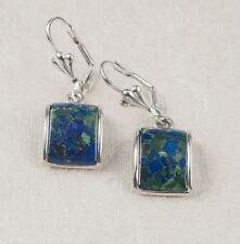 silver 925 earrings set natural Eilat king solomon stone ! vintage jewelry