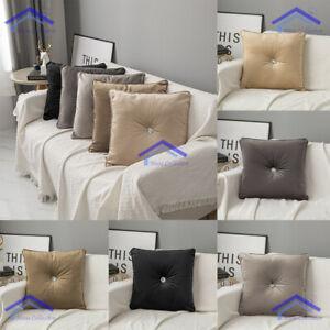 18 x 18 in Velvet Filled Cushion Luxury Diamante Bedroom Sofa Cushion Covers