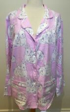 PETER ALEXANDER Pale Pink Flannelette Cotton Bunny Rabbit Long Sleeve PJ Top L