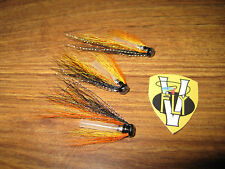 3 V Fly 3/4 inch Special Summer Cascade Hitch Salmon Tube Flies & V1 Trebles