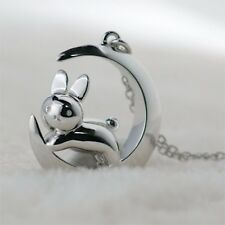 MIFFY x Ginza Tenshodo Crescent Moon Silver925 necklace pendant rabbit for gift