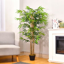 Green Artificial Bamboo Tree Potted Plant Home Office Decor Outdoor Indoor