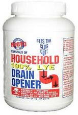 (Case of 12)- Rooto 100% Household Lye Drain Opener 192oz,12lb Total Free Ship!