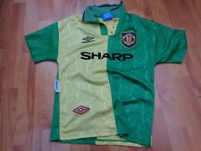MANCHESTER UNITED MAN UTD VINTAGE 1992-1994 92-94 UMBRO AWAY LARGE BOYS SHIRT
