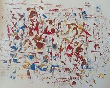 Francis TURBIL 1925-1991.Composition abstraite.Huile sur papier.SBD.65x50.
