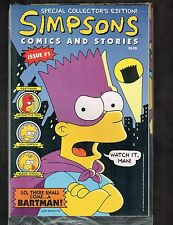 Simpsons Comics and Stories #1 ~ Bartman! ~ 1993 (SEALED) WH