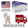 Vinyl Powdered Free Multi-Purpose Gloves, Medium, Clear Latex Free - 100 Per Box