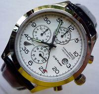 BMW Classic M Power Motorsport Racing Business Sport Design Watch Chronograph