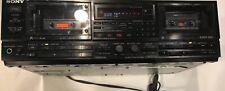 VINTAGE Sony Dual Tape Cassette Deck Auto Reverse TC-WR11ES