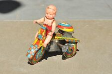 Vintage Wind Up Romance Tricycle Litho Tin  Toy , Japan