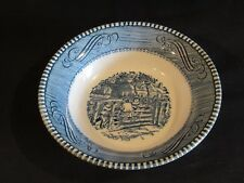 Royal CURRIER and IVES The Old Farm Gate Fruit Bowl