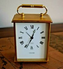 VINTAGE CONCORD BRASS CASE  SWISS MADE 8 DAYS MECHANICAL ALARM CARRIAGE CLOCK
