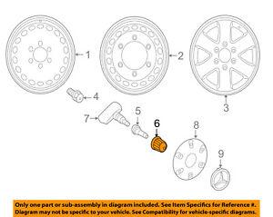 MERCEDES OEM 10-16 Sprinter 2500 Wheel Tire-Valve Stem Cap 0004010609