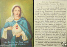 OLD BLESSED IMMACULATE HEART OF MARY HOLY CARD USA ANDACHTSBILD SANTINI   CC649
