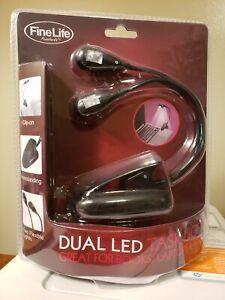 Fine Life Dual Led Task Light Clip On & Free Standing