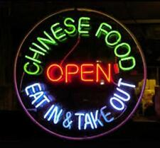 """New Chinese Food Open Eat In Take Out Neon Light Sign 24""""x24"""""""