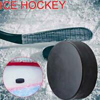 Official Ice Hockey Puck Black Standard Rubber Training L0Z1