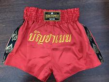 New Raja Boxing Buakaw Banchamek Short Muay Thai Mma Kick Boxing Red Satin Xl