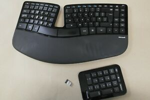 Microsoft Sculpt 1559 Ergonomic Wireless UK Keyboard with Receiver and Num Pad