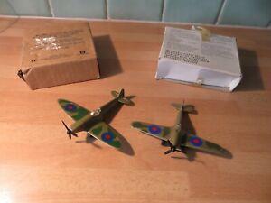 Polistil Tonka & Matchbox diecast Spitfire and Hurricane warplanes