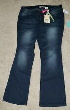 NEW Paris Blues Blue Jeans Plus Size 22 Dark Bootcut Womans Pants Stretch NWT