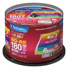 New 50 Verbatim Printable Blu-ray 25GB 2x blank BD-RE Blank Disc Media Japan