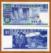 Singapore, 1 dollar, ND (1987), P-18, aUNC