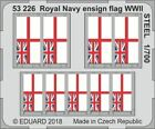 EDUARD 1/700 SHIP- WWII ROYAL NAVY ENSIGN FLAG STEEL PAINTED  53226