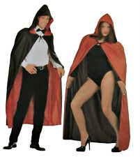 Reversible Cape Black Red Adult Unisex Costume One Size Vampire Witch Halloween