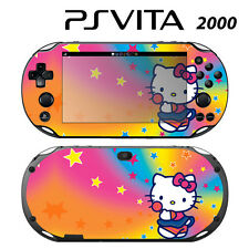 Vinyl Decal Skin Sticker for Sony PS Vita Slim 2000 Cute Kitty Rainbow Stars
