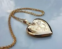 GENUINE LARGE 9ct gold locket necklace gf,SIMPLY STUNNING ONLY A FEW LEFT NOW 74