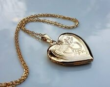 GENUINE LARGE 9ct gold locket necklace gf, FREE POSTAGE IF YOU BUY TODAY ref 74