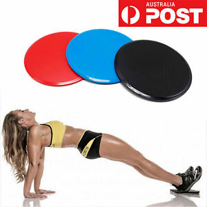 4 Pcs Gliding Sliding Discs Core Sliders Gym Yoga Fitness Exercise Workout