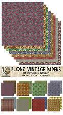 "Paper 24sh 6""x6""# Medieval Patterns # Flonz 073 Craft Scrapbooking Tile"