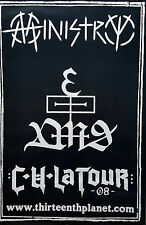 Ministry 2008 C U LATOUR Al Jourgensen Original Tour Poster Jumbo 60 x 40