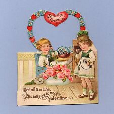 Vintage Valentine Card Valentine'S Day Telephone Germany 1930s Get Off This Line