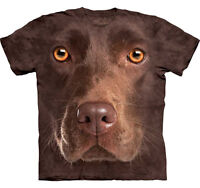 THE MOUNTAIN CHOCOLATE LAB LABRADOR   DOG PUPPY ANIMAL  BIG FACE ADULT  T SHIRT