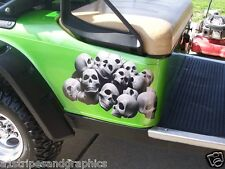 Skull Pile Golf Cart Graphics Sticker Decal Decals Skulls EZGO Club Car Go Yamah