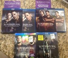 Supernatural: The Complete Season 1,4,7,8(Blu-ray Disc,2013,4-Disc Set)2 are NEW