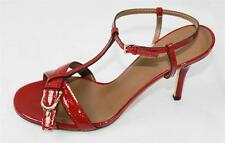 AUTH $695 Gucci Women Red Guccissima Heel Shoes 36