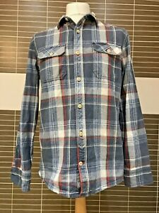 Mens Fat fac Long Sleeve  Flannel Shirt Med Check Cotton